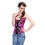Muka Women's Brocade Buckle Rose Red Fashion Corset Top, Halloween Costumes