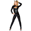 Muka Adult Catwoman Costume Black Catsuit Bodysuit Costume, Gift Idea
