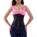 Muka Black Floral Tapestry Underbust Corset Bustier, Christmas Gift Idea