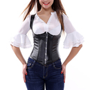 Muka Black Underbust Fashion Corset With Shoulder Straps, Christmas Gift Idea