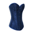 Muka Women's Blue Flower Tapestry Brocade Fashion Corset, Halloween Costume