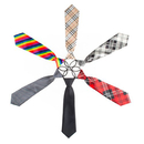 TopTie 6 Pcs Mix Design Boys Formal Wear Pre-Tied Polyester Necktie Set