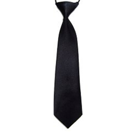 "(Price/10 Pcs)TopTie Kid's Solid Color Black Necktie 10"" Youth Neck Tie"
