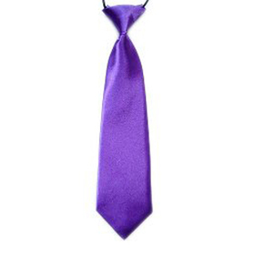 "(Price/10 Pcs)TopTie Kid's Solid Color Purple Necktie 10"" Youth Neck Tie"