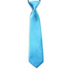 "(Price/10 Pcs)TopTie Kid's Solid Color Lake Blue Necktie 10"" Youth Neck Tie"