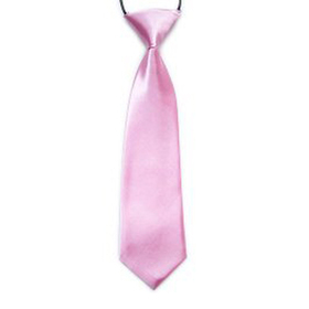 "(Price/10 Pcs)TopTie Kid's Solid Color Pink Necktie 10"" Youth Neck Tie"