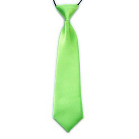"(Price/10 Pcs)TopTie Kid's Solid Color Lime Green Necktie 10"" Youth Neck Tie"