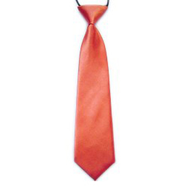 "(Price/10 Pcs)TopTie Kid's Solid Color Orange Necktie 10"" Youth Neck Tie"