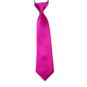 "(Price/10 Pcs)TopTie Kid's Solid Color Rose Red Necktie 10"" Youth Neck Tie"