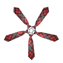 TopTie Kid's Black Red Plaid Neckties 10