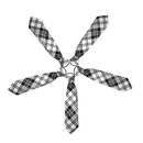 TopTie Kid's Black White Plaid Neckties 10