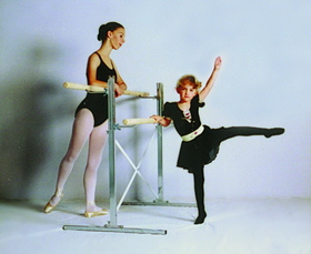Norbert's Athletic 14' Freestanding Ballet Bar (bar on both sides), Price/ea.