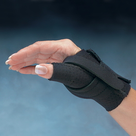 Comfort Cool Thumb CMC Restriction Splint, Black, RIGHT