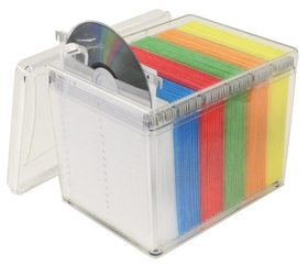 Hipce CDTB-120R Clear CD/DVD Box with 6 Colors Sleeves