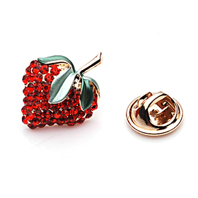 Aspire Lovely Strawberry Red Rhinestone Tack Pin, Halloween Decorations