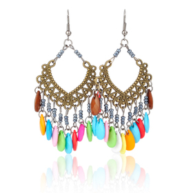 Aspire Drop Earrings - Colorful Bead Chandelier