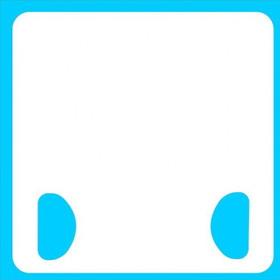 "13-106 Handheld 12"" x 16"" Dry Erase Board-Double Handle"