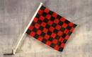 NEOPlex C-018 Checkered Red/Black Car Window Flag