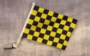 NEOPlex C-131 Checkered Yellow & Black Car Window Flag