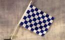 NEOPlex C-132 Checkered Blue & White Car Window Flag
