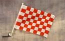 NEOPlex C-133 Checkered Red & White Car Window Flag