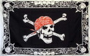 NEOPlex F-1444 Skull and Cross Bones 3'x 5' Flag