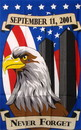 NEOPlex F-1531 Never Forget 9/11 Eagle Military 3'x 5' Flag