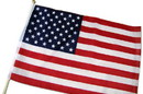 "NEOPlex F-1792 American Hand Held 12"" x18"" Flag"