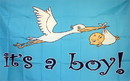 NEOPlex F-2266 It's A Boy 3'x 5' Novelty Flag