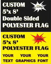 NEOPlex F-8989 Custom Print Double Sided 5'x 8' Flag
