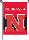"""BSI K83005 Nebraska Huskers 13""""x 18"""" Garden Banner Flag"""