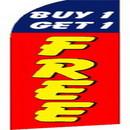NEOPlex SW10124 Buy 1 Get 1 Free Swooper Flag