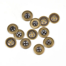 Aspire Retro Buttons 11mm, 4 Holes Round Buttons
