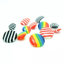 Aspire Stripe Color Mushroom Buttons
