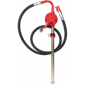 National Spencer Rotary Hand Pump W/ Hose & Nozzle Cover For 15-55 Gallon Container