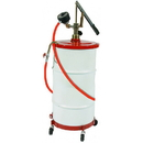 National Spencer Gear Lube Pump W/ Meter, Hose, Dolly & Cover For 16 Gallon Drum