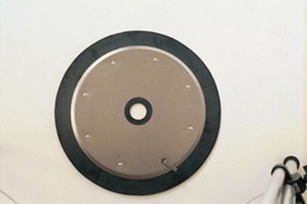 "National Spencer Rubber Edged Follower Plate For 120 Lb. Drum 1-7/16"" Center Diameter"