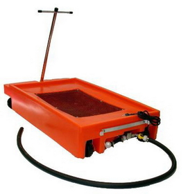 National Spencer 17 Gallon Lowboy Drain W/ 2 Wheels, 2 Casters, Handle & Pump