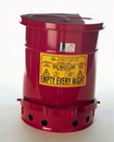 National Spencer 6 Gallon Foot-Operated Oily Waste Can. Fm & Ul Listed