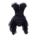 MUKA Elegant Boned Costume Corset Dress, Old Fashioned Corset