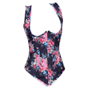 MUKA Printed Vest Underbust Fashion Corset Waist Cincher, Gift Idea