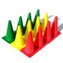 Oncourt Offcourt Big Stoplight Cones - 18