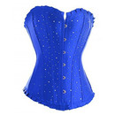 Muka Blue Overbust Fashion Corset Bustier, Mother's Day Gift Ideas