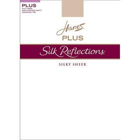 Hanes 00P15 Silk Reflections Plus Sheer Non-Control Top Enhanced Toe Pantyhose