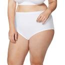 Just My Size 1615C5 Cool Comfort High-Waist Women's Cotton Brief Panties — 5-Pair Pack