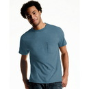 Hanes Men's TAGLESS ComfortSoft Dyed Crewneck Pocket T-Shirt 4-Pack , 2176A4