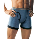 Hanes 2393P4 Men's Ringer Boxer Briefs with Comfort Flex Waistband 4-Pack