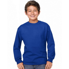 Hanes 5546 Youth TAGLESS 6.1 Long Sleeve T-Shirt
