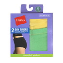 Hanes D49EAS Women's Cotton Stretch Boy Briefs, 2-Pack