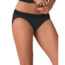 Hanes ET42LC Women's ComfortSoft Cotton Stretch Lace Bikini 3-Pack
